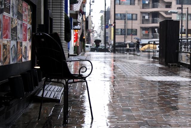 突然の雨に見舞われることも