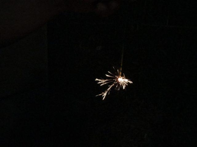 線香花火「長手牡丹」を実際に使ってみた感想