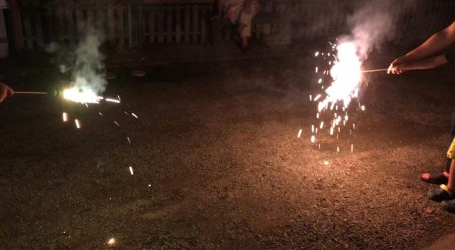 「串だんご」花火を実際に使用してみた感想