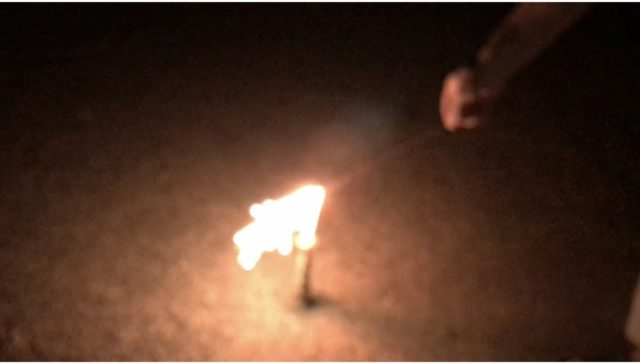 桃の香りスパーク花火を使ってみた感想
