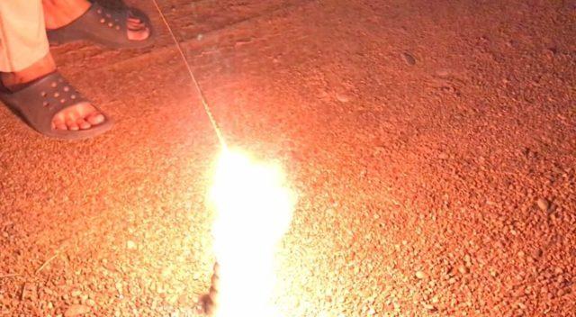 メロンの香りスパーク花火を使ってみた感想