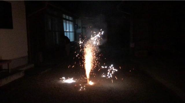 「噴出線香」噴出花火を実際使ってみた感想