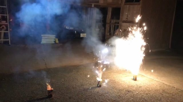 「ドラゴンセブン・エイト・テン」噴出し花火3本セットを使ってみました