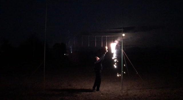 ナイアガラ花火「新感動の滝」を使ってみた感想