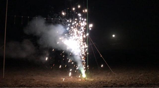「雷雷門」噴出花火を使ってみた感想