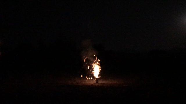 「ブルブル」という噴出花火を実際やってみた感想